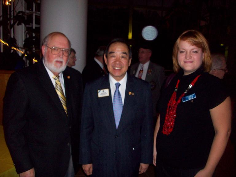 Dr. Tam International President, Jim Allison President Classis City, Paulina Bounds Advisor Athens Campus Club